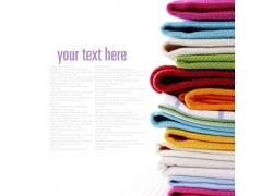 一堆叠放整齐的毛巾