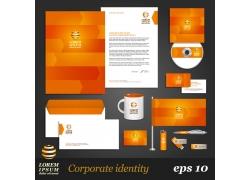 橙色调vi设计模板