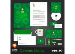 绿色医疗vi设计模板