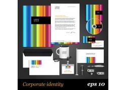 彩色条纹vi设计模板