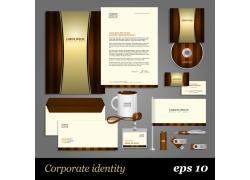 棕色尊贵vi设计模板