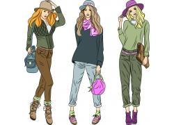 时尚插画美女图片