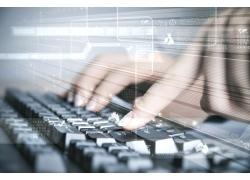 键盘打字手势