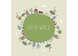 绿色环保插画