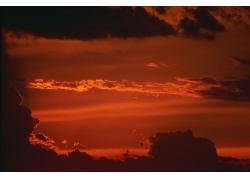 美丽火烧云风景