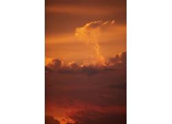 火烧云风景