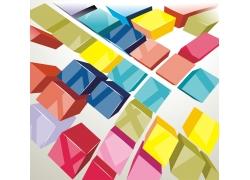 彩色立体方块背景模板