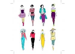 女性模特美女插画图片