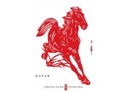 奔跑的红色骏马