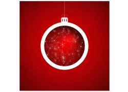 红色圣诞球背景