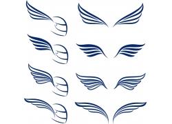 矢量翅膀花纹