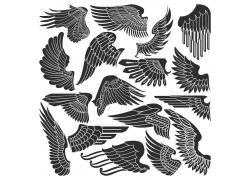 矢量翅膀图案