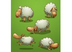 卡通羊插画图片
