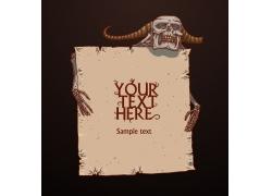 广告牌与骷髅图片