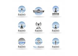 网络雷达logo设计