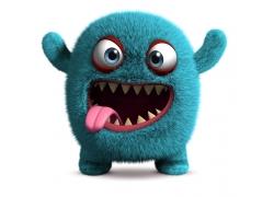吐舌头的卡通怪物