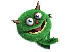 可爱卡通怪物