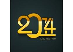 2014新年金属立体字