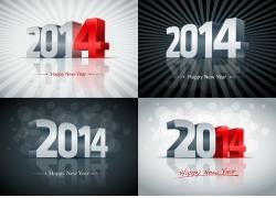 2014新年立体字