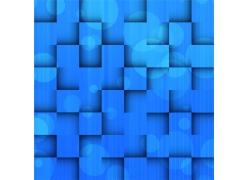 蓝色立体方块背景模板