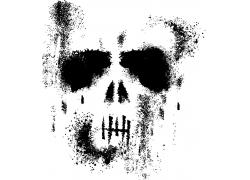 恐怖骷髅头背景素材