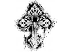 黑色十字架设计