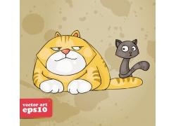 卡通猫咪漫画图片