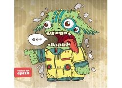 卡通怪物插画图片
