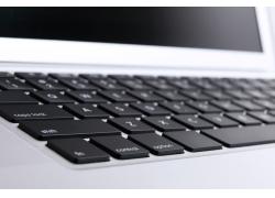 笔记本电脑键盘特写