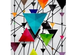 三角立体背景设计