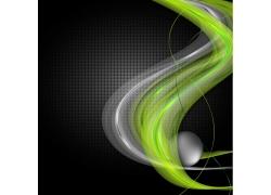 绿色线条花纹背景