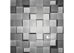 灰色立体方块背景
