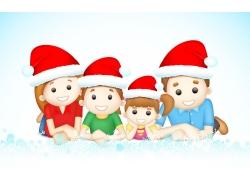 过圣诞节的家庭人物图片