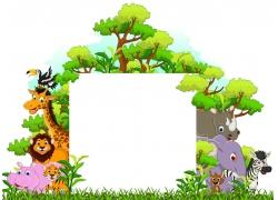 卡通动物背景素材图片