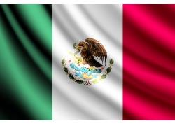 墨西哥国旗背景