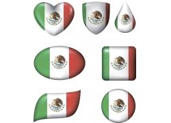 墨西哥国旗形状图案