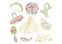卡通墨西哥物品
