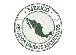 绿色墨西哥印章图案