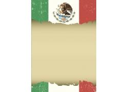 复古墨西哥国旗