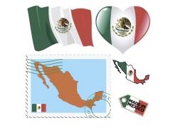 墨西哥图案与邮票