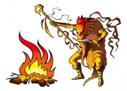 矢量人物火焰设计图片