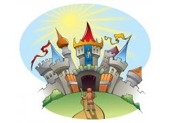 矢量城堡插画设计图片