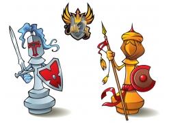 象棋士兵设计图片
