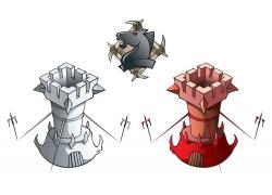 城堡设计素材图片