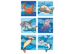海洋生物插画设计图片