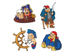 矢量海盗素材图片
