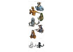 神话人物漫画图片