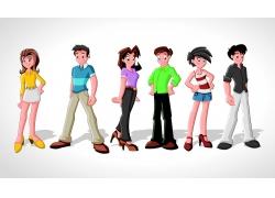 矢量卡通人物素材图片