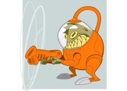 卡通外星人插画图片