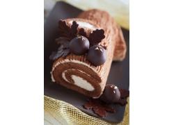 巧克力树皮蛋糕卷